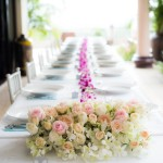 wedding roses dining table