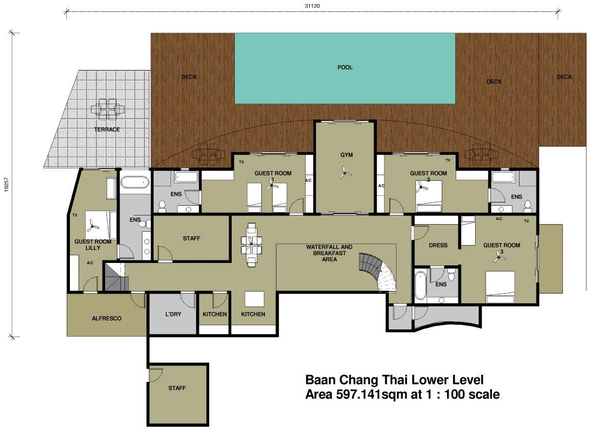 Home Exercise Room Design Layout Bann Chang Thai Phuket Paradise Villas